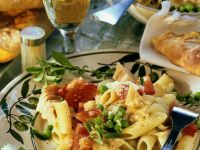 Tuna-Penne Salad with Tomatoes recipe