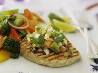 Tuna Steak with Avocado and Tomato Salsa recipe