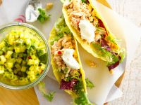 Tuna Tacos with Avocado Salsa recipe