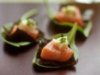 Tuna Topped Nori Squares recipe