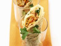 Tuna Tortilla Wraps with Carrots and Sprouts recipe
