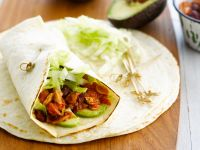 Tuna Wraps with Avocado and Beans