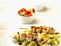 Turkey and Bell Pepper Skewers with Barley recipe
