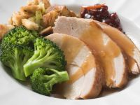 Turkey and Stuffing with Broccoli and Cranberries recipe