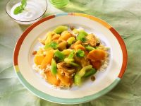Turkey and Vegetable Curry with Rice recipe