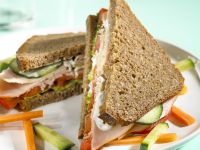 Turkey and Vegetable Sandwiches recipe