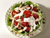 Turkey, Asparagus, and Strawberry Salad recipe