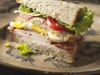 Turkey, Bacon, and Egg Club Sandwich recipe