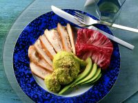 Turkey Breast with Avocado Cream recipe