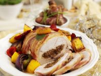 Wrapped Turkey with Fruit Centre recipe