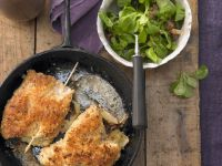 Turkey Cordon Bleu with Salad recipe