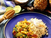 Turkey Curry with Coconut Rice recipe