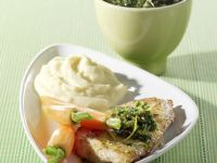 Turkey Cutlets with Almond-parsley Pesto recipe