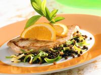 Turkey Cutlets with Lentils recipe
