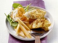 Turkey Cutlets with Vegetable Salad recipe