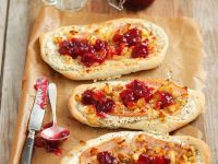 Turkey, Feta and Cranberry Flatbread recipe
