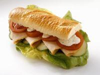 Turkey Ham Sandwich with Herbed Sauce recipe