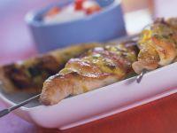 Turkey Kebabs with Mustard Dip recipe