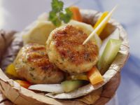 Golden Sesame Turkey Patties recipe