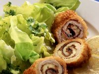 Turkey Rolls in Breadcrumbs with Salad recipe