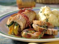 Turkey Rolls Stuffed with Ham and Vegetables recipe