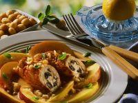 Turkey Rolls with Peach Sauce recipe