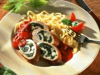 Turkey Rolls with Spinach Filling recipe