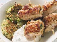 Turkey Rolls with Vegetable Patties recipe