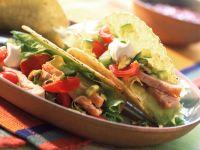 Turkey Salad Filled Taco Shells recipe