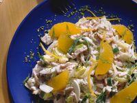 Turkey Salad with Oranges and Leeks recipe