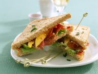 Turkey Salami Sandwiches with Mango recipe