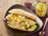 Turkey Sandwiches with Fruity Potato Salad recipe