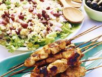 Turkey Skewers with Bulgur Salad recipe