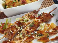 Turkey Skewers with Leeks and Apples recipe