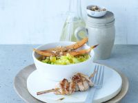 Turkey Skewers with Risotto with Sweet Potato recipe