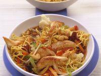 Turkey Udon Noodle Stir-Fry recipe