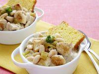 Turkey White Bean Chili and Cornbread recipe