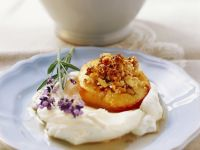 Tuscan-Style Stuffed Peach Halves recipe