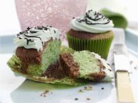 Two Colour Chocolate Mint Cupcakes recipe