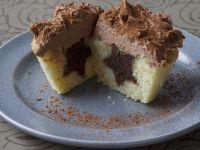 Two-tone Vanilla Cakes recipe