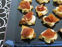 Vacherin Cheese and Prosciutto Canapes recipe