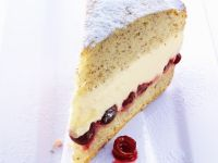 Vanilla Cake with Cream Cheese and Cherry Filling recipe