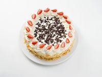 Vanilla Cake with Fresh Strawberries and Whipped Cream recipe