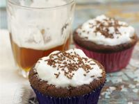 Vanilla Glazed Chocolate Muffins recipe