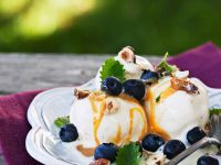 Vanilla Ice Cream with Berries and Sweet Drizzle recipe