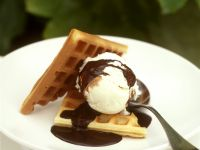 Vanilla Ice Cream with Waffles recipe
