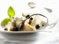 Gourmet Pears with Italian Cream recipe
