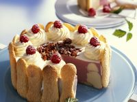 Vanilla Raspberry Cream Cake recipe