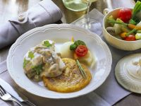 Veal and Mushrooms with Hash Browns recipe