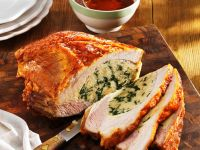 Veal Breast Stuffed with Spinach recipe